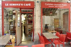 Entrée du Simone's café