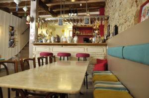 Intérieur du Simone's café